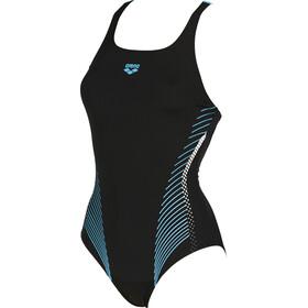 arena Fluids Costume da bagno intero Donna, black-sea blue
